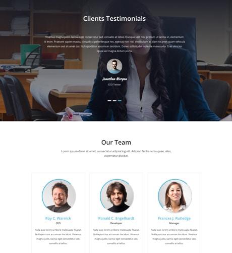 Free One Page Responsive Wordpress Theme 2