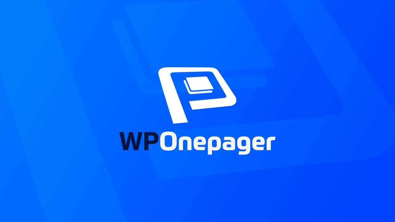 onepager wordpress