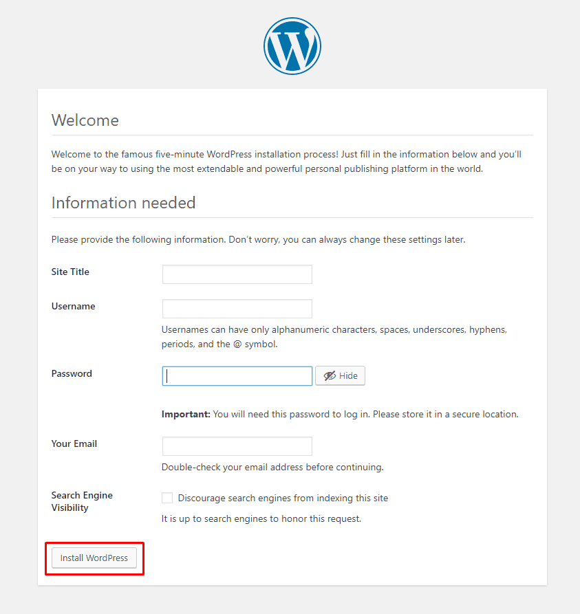 How To Install WordPress On Localhost (Simple But Complete Guideline) 7