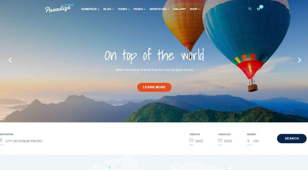 5 Best Tours and Travels WordPress Themes - Expert's Choice 5