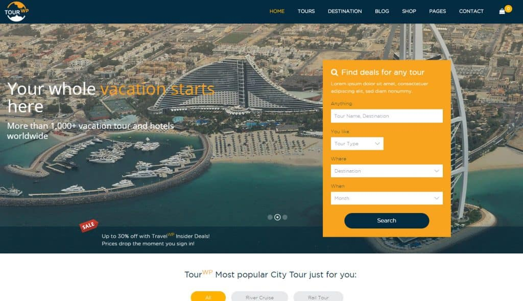 5 Best Tours and Travels WordPress Themes - Expert's Choice 4