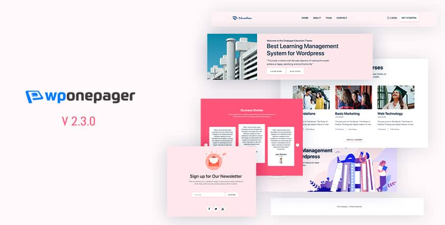 Introducing WPOnepager 2.3.0 – With Page Settings, Education Layout and Ten New Blocks 1
