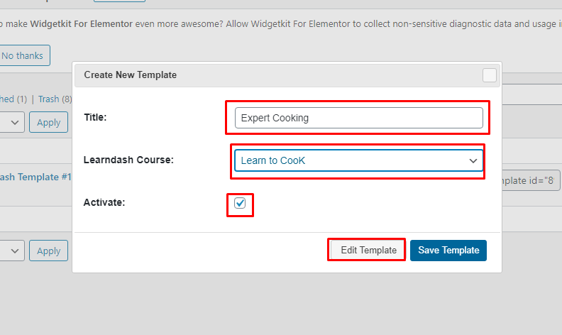 Change The Look of Your LMS with LearnDash Templates in WidgetKit 2.3.3 5