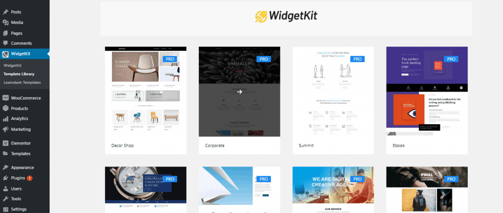 Change The Look of Your LMS with LearnDash Templates in WidgetKit 2.3.3 9